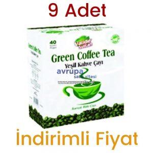 9 Adet Valide Sultan Yeşil Kahve Çayı 40 Süzen Poşet