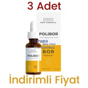 3 Adet Polibor Damla 3 x 30 ML