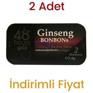 2 Adet 48 Hours Ginseng Bonbon Şeker