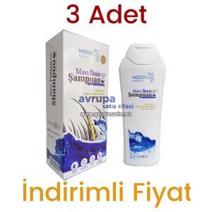 3 Adet Nozzplus Mavi İksir Şampuan Çinko ve Biotin Destekli Şampuan 3 x 400 ML