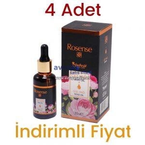 4 Adet Rosense Cilt Yağı Gül Yağı 4 x 30 ML