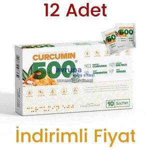 12 Adet Curcumin 500 Herbal Food Altın Yoğurt Kürü 120 Şase X 6 GR