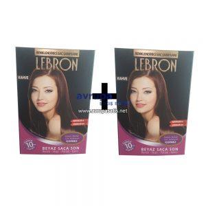 2 adet Lebron Renklendirici Saç Şampuanı Kahve
