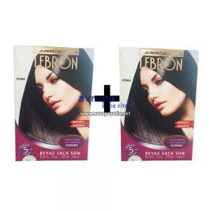 2 Adet Lebron Renklendirici Saç Şampuanı Siyah