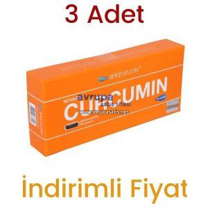 3 Adet Novasol Aniqnaturals Curcumin Kurkumin 3 x 120 Licaps Zerdaçal Kapsül