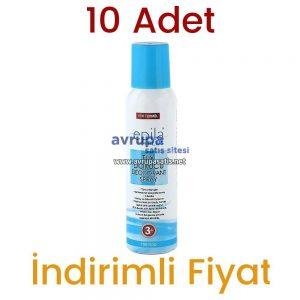 10 Adet Epila Plus Tüy Dökücü Deodorant Sprey 10 x 150 ML