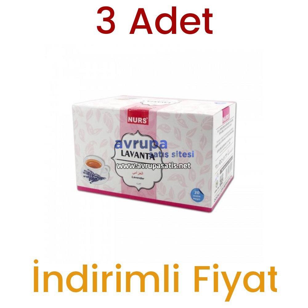Nurs Lokman Hekim Lavanta Bitki Çayı 20 Süzen Poşet 3 Adet