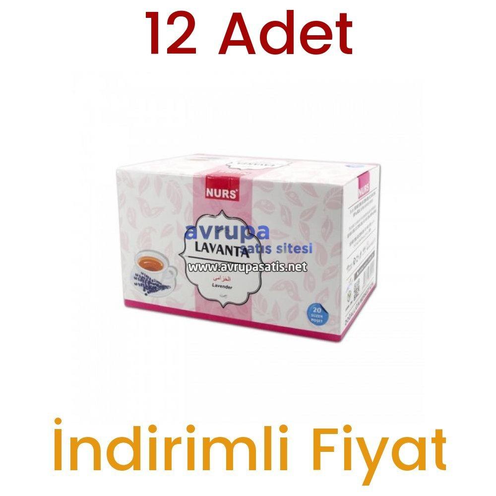Nurs Lokman Hekim Lavanta Bitki Çayı 20 Süzen Poşet 12 Adet
