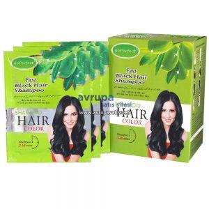GoPerfect Saç Renklendirici Şampuan Siyah 10 Adet 30 ML Şase