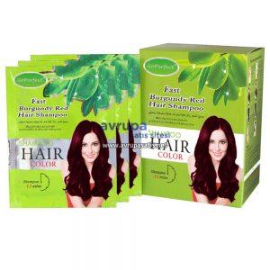 GoPerfect Saç Renklendirici Şampuan Bordo 10 Adet 30 ML Şase