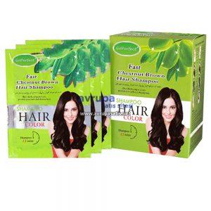 GoPerfect Saç Renklendirici Şampuan Kestane 10 Adet 30 ML Şase
