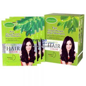 GoPerfect Saç Renklendirici Şampuan Üzüm Moru 10 Adet 30 ML Şase