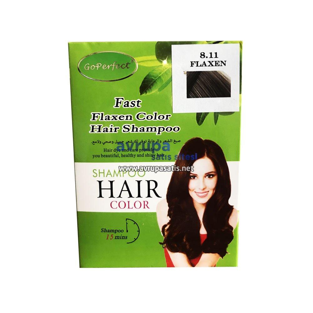 GoPerfect Saç Renklendirici Şampuan Keten Rengi 10 Adet 30 ML Şase