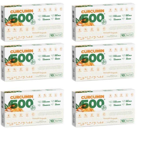 6 ADET Curcumin 500 Herbal Food Altın Yoğurt Kürü 60 Şase X 6 GR
