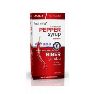 Acısız Biber Şurubu Nutriful Pepper Syrup 250 ML