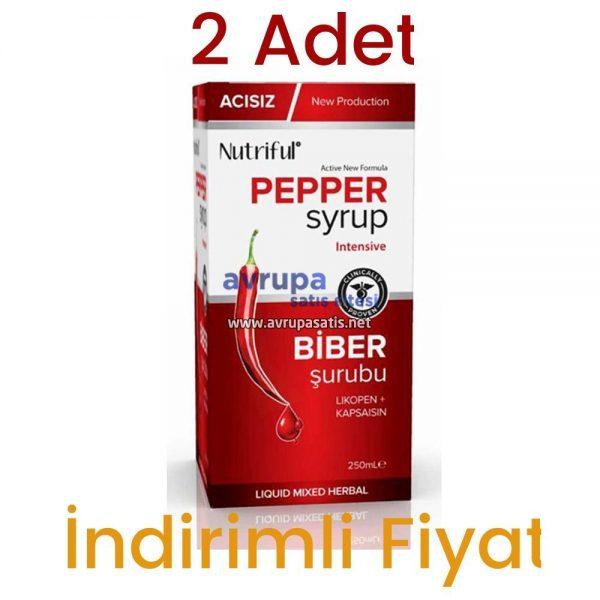 Acısız Biber Şurubu Nutriful Pepper Syrup 250 ML 2 Adet