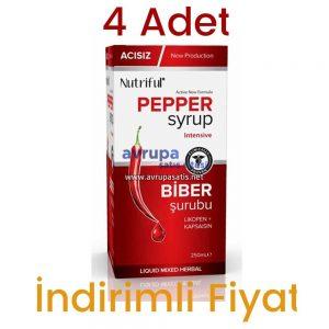 Acısız Biber Şurubu Nutriful Pepper Syrup 250 ML 4 Adet