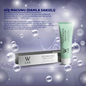 DİŞ MACUNU (DAMLA SAKIZI) 100 ml w-lab cosmetics