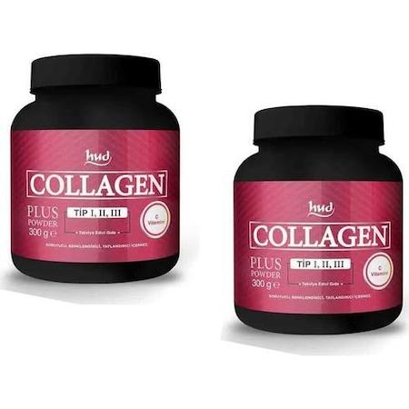 Hud Collagen Plus Powder Toz Kolajen Tip 1-2-3 2 Adet x 300 GR