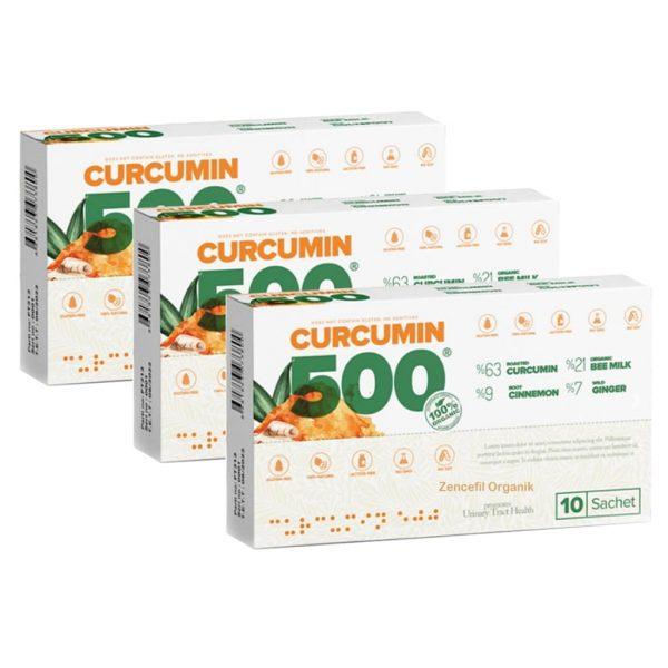 CURCUMİN 500 HERBAL FOOD 10 ŞASE x 6 GR * 3 KUTU