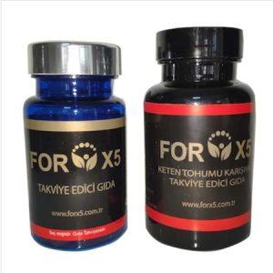 Forx5 Takviye Edici Gıda 1 ADET MAVİ KUTU 45 ADET, YEŞİL KUTU 45 ADET