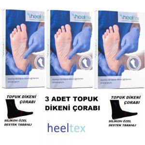 Topuk Dikeni Çorabı Silikon Destekli Özel Üretim L-XXL BEDEN 3 ADET