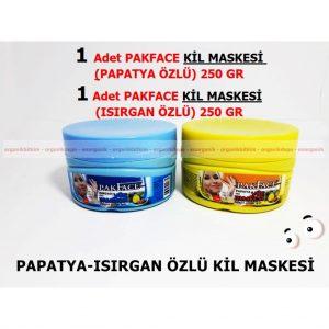 1 Adet PakFace Papatya- 1 Adet Isırganlı Kil Maskesi 250+250 gr
