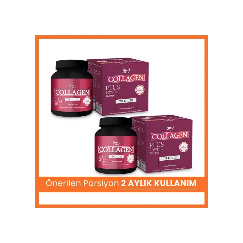 Collagen Plus Powder 300 g - Toz Kolajen (2 Adet)