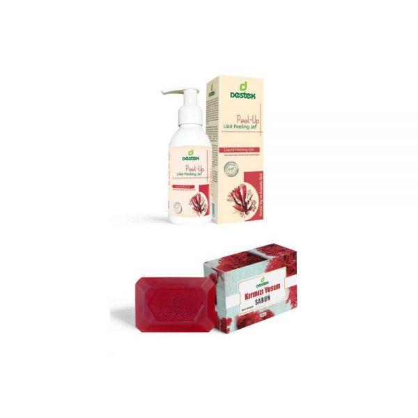 Peel-Up Likit Peeling Jel ve Kırmızı Yosun Sabunu (2'li Set)