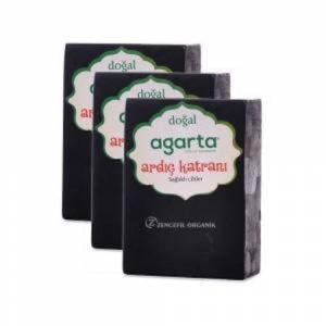 3 Adet Agarta Ardıç Katranı Sabunu Doğal El Yapımı 150 gr x 3
