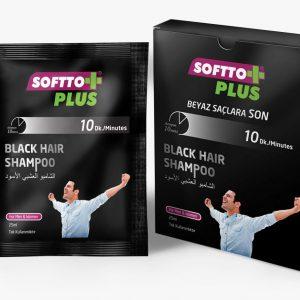 SOFTTO PLUS BLACK HAIR SHAMPOO TEK KULLANIMLIK 2 ADET