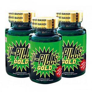 V-Pills Gold 180 Bitkisel Kapsül - 3 Kutu