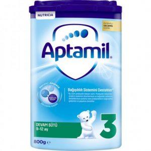 Aptamil 3 Akıllı Kutu Devam Sütü 800gr 9-12 Ay