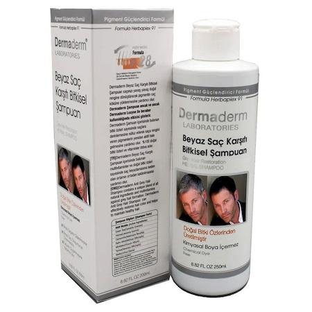 Dermaderm Beyaz Saç Karşıtı Bitkisel Şampuanı 250ml Saçlar İçin