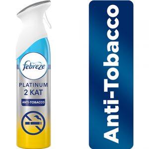 Febreze Platinum Hava Ferahlatıcı Sprey 300ml Oda Kokusu Anti-Tobacco Sigara Kokusu Önleyici