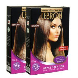Lebron Renklendirici Saç Şampuanı Koyu Kahve 8x25 200 ml