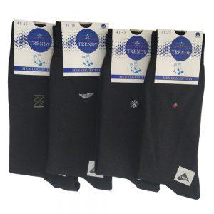 Mevsimlik Siyah Pamuk Erkek Çorap | 10 ÇİFT