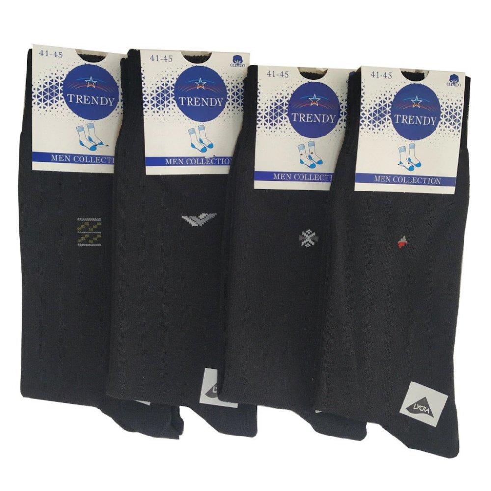 Mevsimlik Siyah Pamuk Erkek Çorap   10 ÇİFT