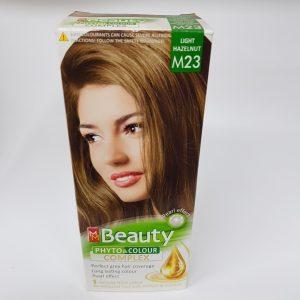 MM Beauty Bitkisel Saç Boyası Açık Fındık Kabuğu M23 1 KUTU