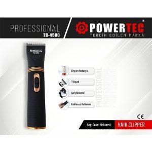Powertec TR-4500 Profesyonel Saç Sakal Kesme Makinesi
