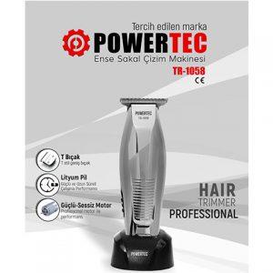 Powertec Tr1058 Ense Saç Ve Sakal Kesme Tıraş Makinası