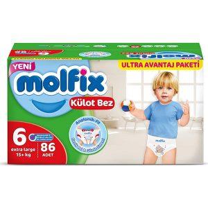 Molfix Külot Bebek Bezi 6 Beden Extra Large 86'lı Ultra Avantaj Paketi Kutulu
