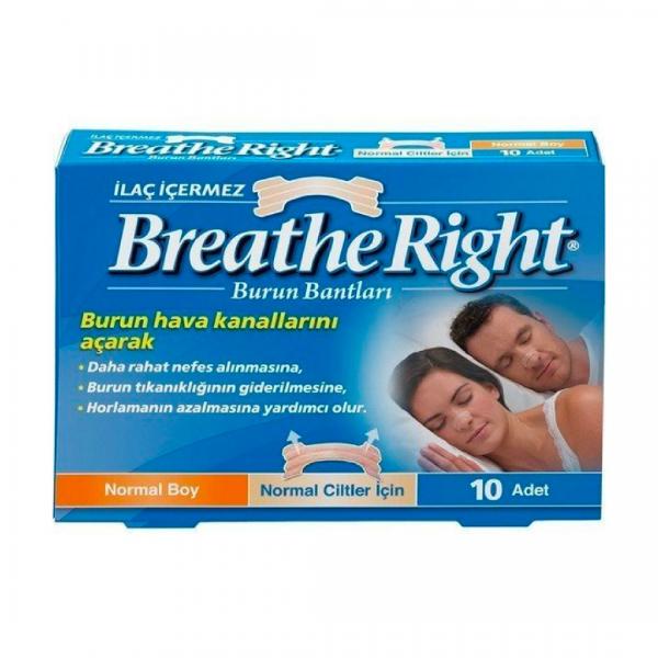 Breathe Right Burun Bandı Normal Klasik 10lu