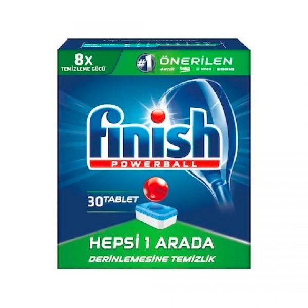 Finish Bulaşık Makinesi Deterjanı Powerball Hepsi 1 Arada 30 Tablet