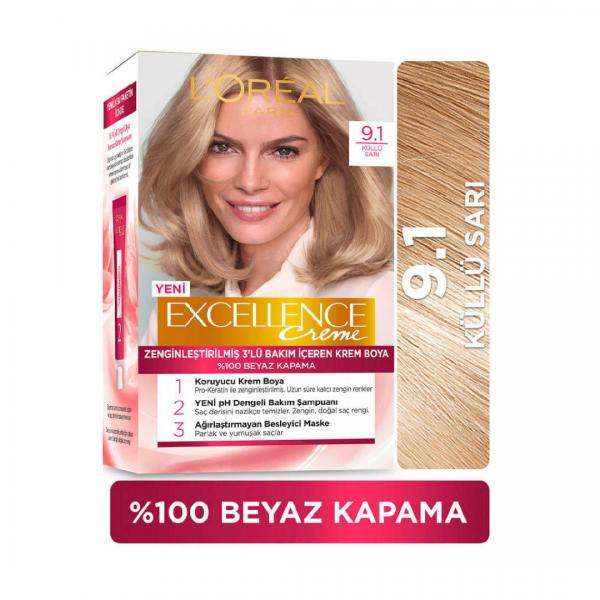 Loreal Excellence Saç Boyası 9.1 Küllü Sarı