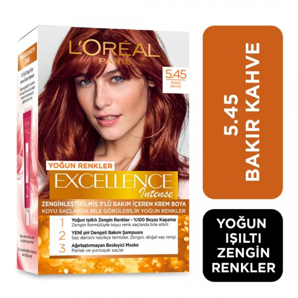 Loreal Excellence Saç Boyası İntense 5.45 Bakır Kahve
