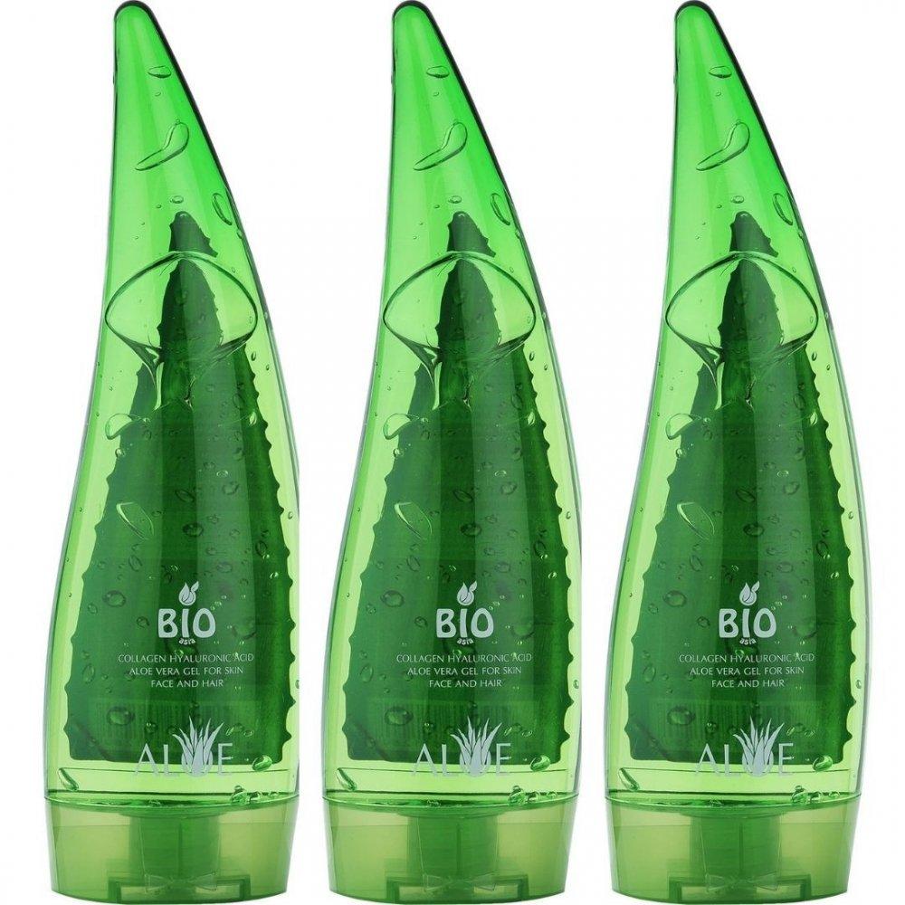 Bio Asia Aloe Vera Jel + Collagen + Hyaluronic Acid 250 ML x 3 Adet