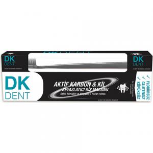 Dermokil Dk Dent Kil Ve Aktif Karbonlu Diş Macunu Florürsüz 75ml Fırça Hediyeli