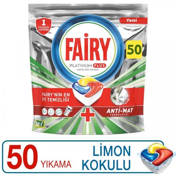 Fairy Platinum Plus 50 Yıkama Bulaşık Makinesi Deterjanı Kapsülü