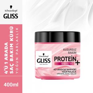 Gliss 4 Ü 1 Arada Yoğun Parlaklık Saç Bakım Kürü 400ml